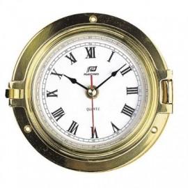 """Horloge 4,5"""" - Laiton poli, verre mineral"""