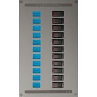 Victron ESP DC distribution panel (1x20 2x16 5x10 3x5)