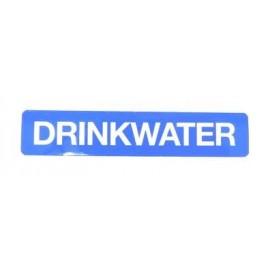 Autocollant *drinkwater* 10cm  x 2 cm