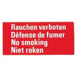 Autocollant defense de fumer   4 langues