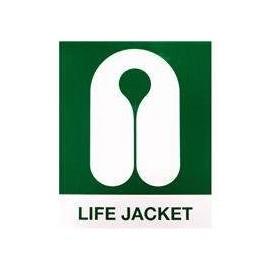 Autocollant *gilet de sauvetage* 20cm lifejacket