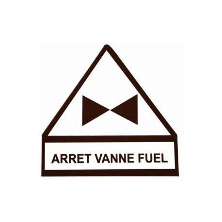 Autocollant arret vanne fuel 9,3cm x 10cm