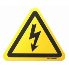 Autocollant Danger Electrique 10x10 triangulaire