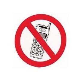Autocollant *interdiction de telephoner* 20cm