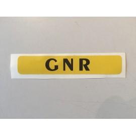 Autocollant *GNR* 10cm x 1,8cm