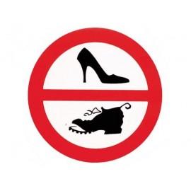 Autocollant chaussures interdites 10cm