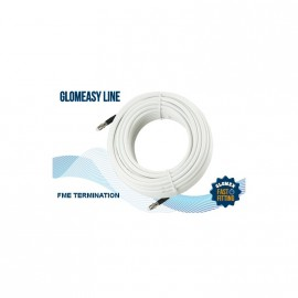 Cable RG8X - Term. FME - 6m - blanc - 50 Ohms - GLOMEASY LINE - RA350/6FME