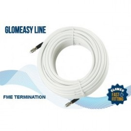 Cable RG8X - Term. FME - 30m - blanc - 50 Ohms - GLOMEASY LINE - RA350/30FME