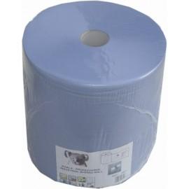 Papier d'essuyage bleu 400m 37cm 3 plis