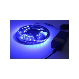 Lampe ledstrip bleue 12v 2,5m+ dimmer + alimentation 220v