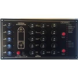 Indicateur (20) 24v + alarme eau et moteur