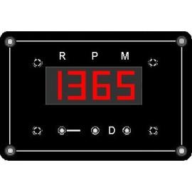 Compte-tours (rouge 1 sonde) 12cm x 8cm (BERNARD) 24v/12v