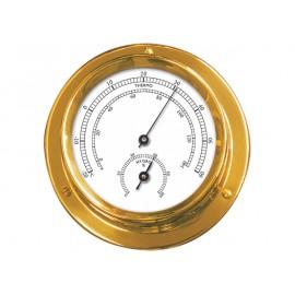 Thermometre-hygrometre 9.5cm laiton yacht
