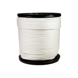 Corde nylon en  6mm blanc 200m 16 torons tresses