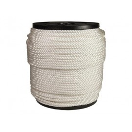 Corde nylon en 12mm blanc 3 torons 220m