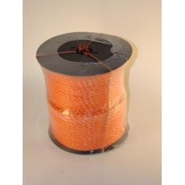 Polypropylene  6mm bobine 110m orange ou bleu