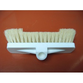 Brosse tampico dure poils beige armature plastic blanc