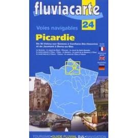 Carte   24 picardie : rivieres  et canaux