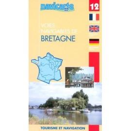 Carte   12 bretagne : rivieres et canaux