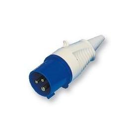 Stekker man 3 pinnen 16a 220v  (blauw)  WALTHER