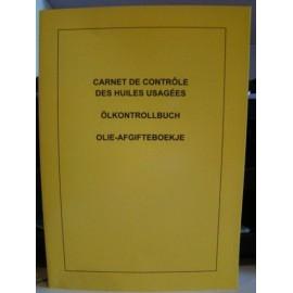 Carnet de controle des huiles usagees