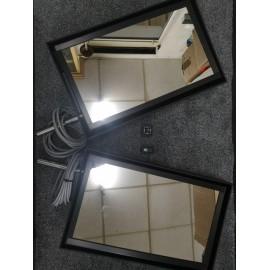 Miroirs (2) synthétiques 500x300mm avec chauffage sans support  et motorise 24v