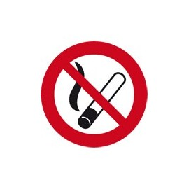 Autocollant defense de fumer 58cm
