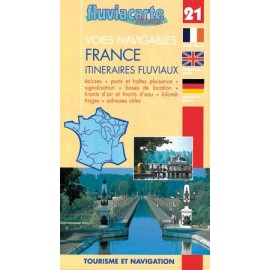 Carte   21 france : itineraires fluviaux