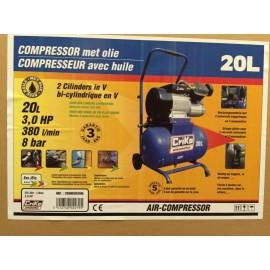 Compresseur  20l 8 bar 380/20/30  Criko    avec huile
