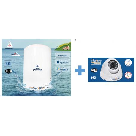 Antenne Glomex Webboat Lite + Glomex Camboat (kit)