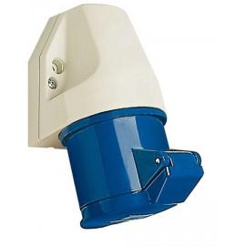 Wandstopcontact 3 x 16a 220v (blauw)