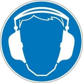 Autocollant port du casque 10cm (audition)