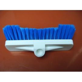 Brosse rylsan douce poils bleu armature plastic blanc